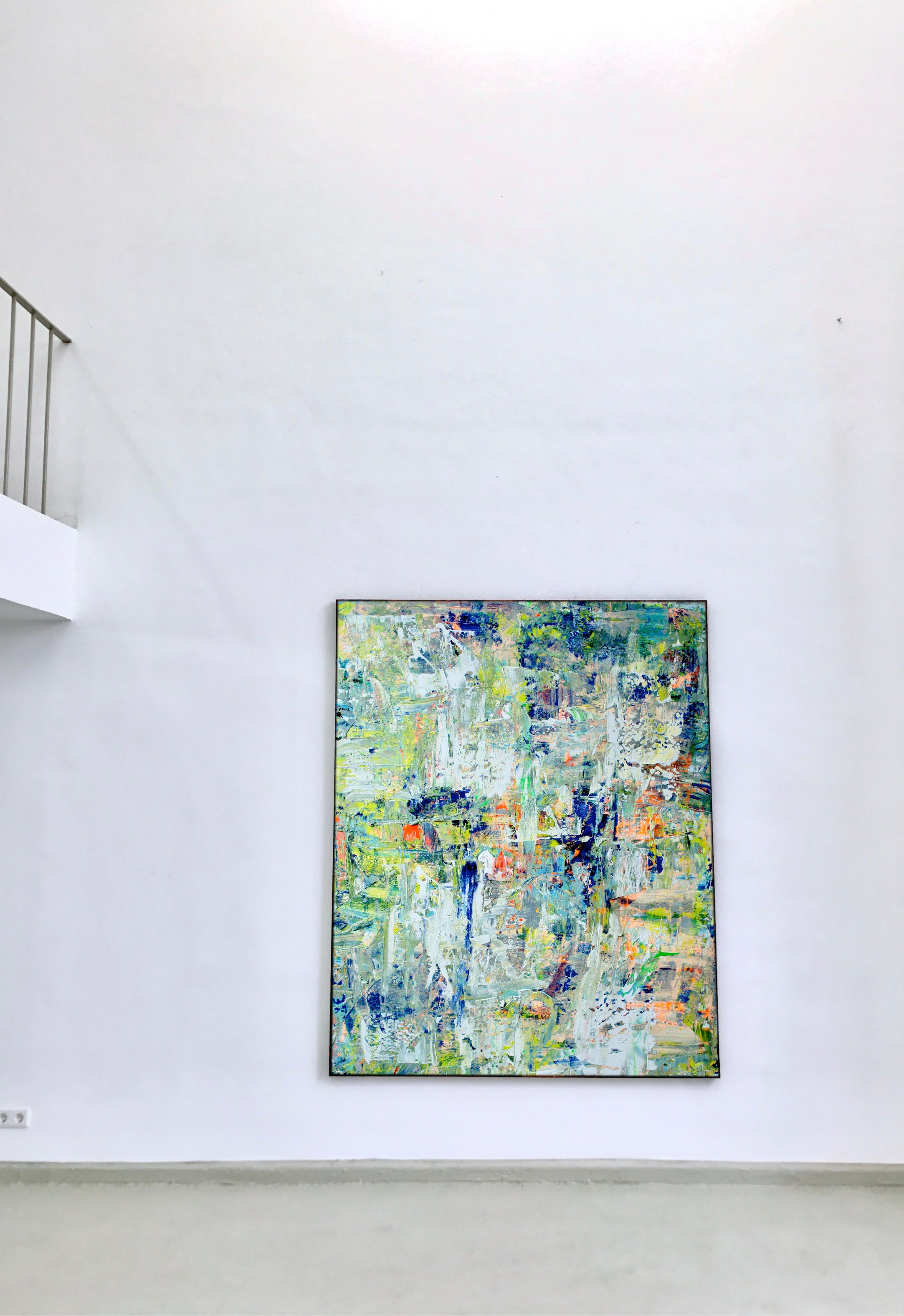 Abstraktes Bild Kunst Artist Ausstellung THERESA KALLRATH BEAUX ART PARIS KUNSTAKADEMIE DÜSSELDORF ARTIST ABSTRAKT RUNDGANG 2018 Painting WALL