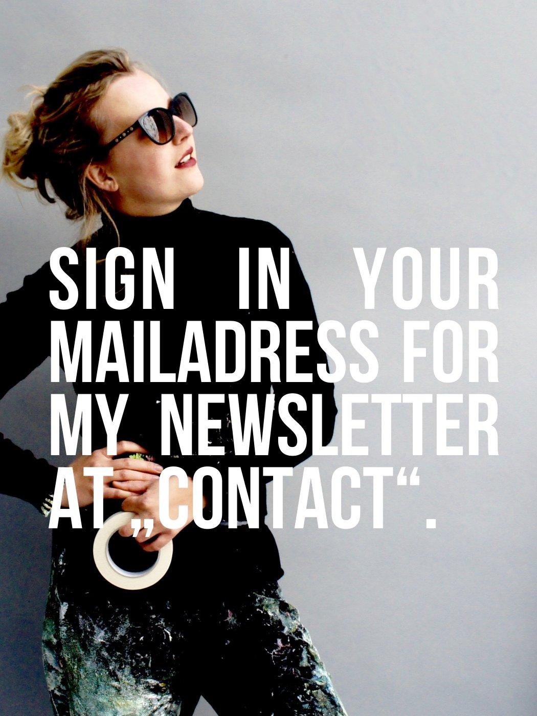Theresa Kallrath kallART Newsletter Anmeldung