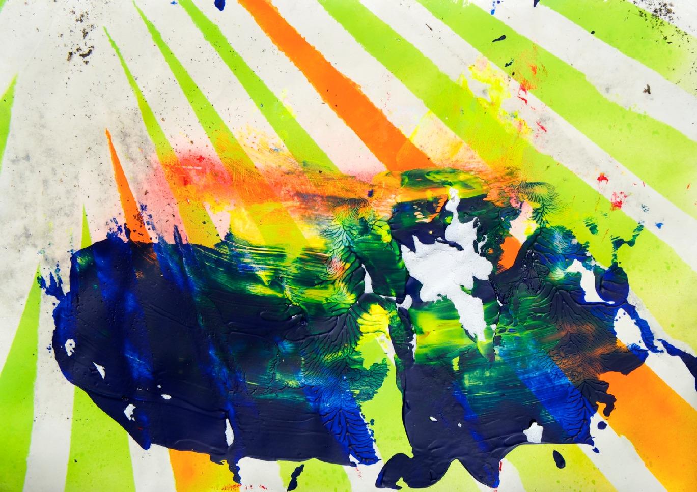 Sommer 2015 Theresa Kallrath KALLART Kunstakademie Düsseldorf 2015 ART Abstract ART Abstracte Kunst Modern Funky NEON LOVE PEACE 11