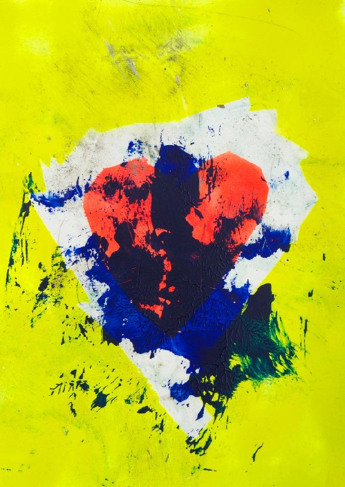 Sommer 2015 Theresa Kallrath KALLART Kunstakademie Düsseldorf 2015 ART Abstract ART Abstracte Kunst Modern Funky NEON LOVE PEACE 12