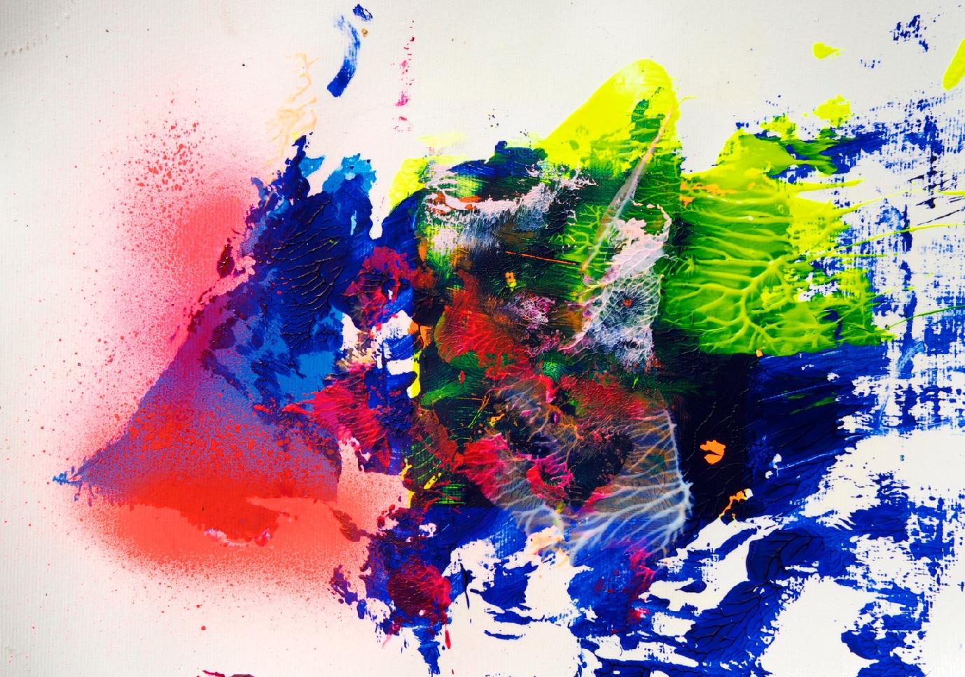 Sommer 2015 Theresa Kallrath KALLART Kunstakademie Düsseldorf 2015 ART Abstract ART Abstracte Kunst Modern Funky NEON LOVE PEACE 16-2
