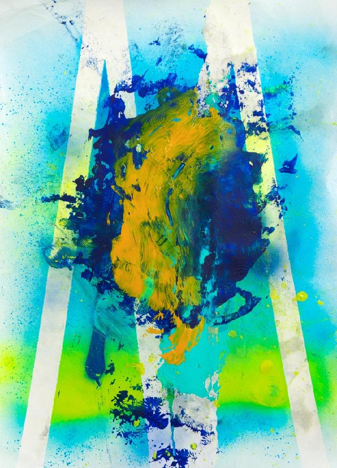 Sommer 2015 Theresa Kallrath KALLART Kunstakademie Düsseldorf 2015 ART Abstract ART Abstracte Kunst Modern Funky NEON LOVE PEACE 18