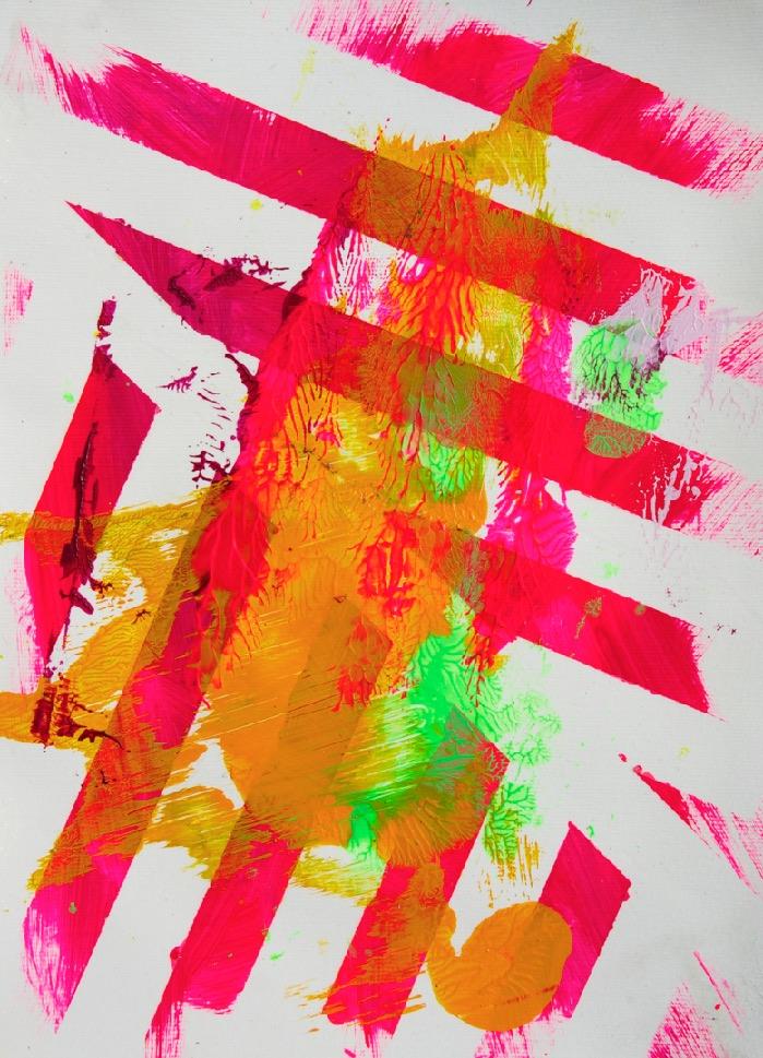 Sommer 2015 Theresa Kallrath KALLART Kunstakademie Düsseldorf 2015 ART Abstract ART Abstracte Kunst Modern Funky NEON LOVE PEACE 19