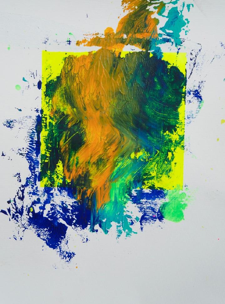 Sommer 2015 Theresa Kallrath KALLART Kunstakademie Düsseldorf 2015 ART Abstract ART Abstracte Kunst Modern Funky NEON LOVE PEACE 5