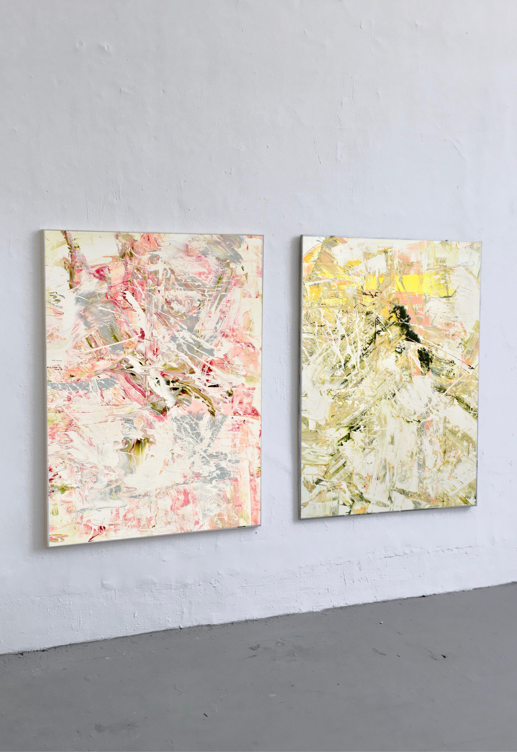 Abstraktes Bild Kunst Artist Ausstellung THERESA KALLRATH BEAUX ART PARIS KUNSTAKADEMIE DÜSSELDORF ARTIST ABSTRAKT RUNDGANG 2018 Oil Painting WALL
