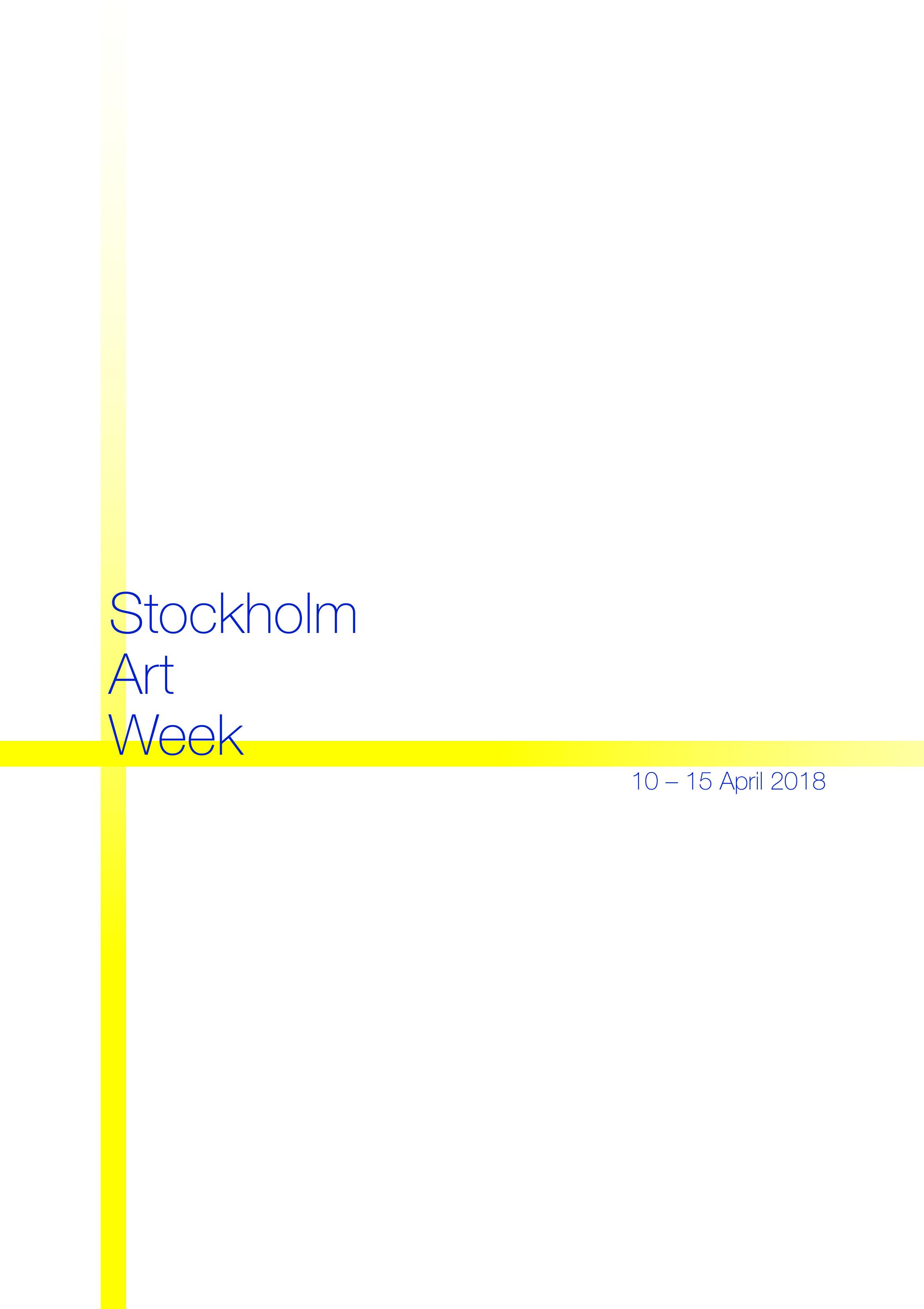 ART WEEK STOCKHOLM AWS Enter Art Foundation 2018 Artist NEW LOGO