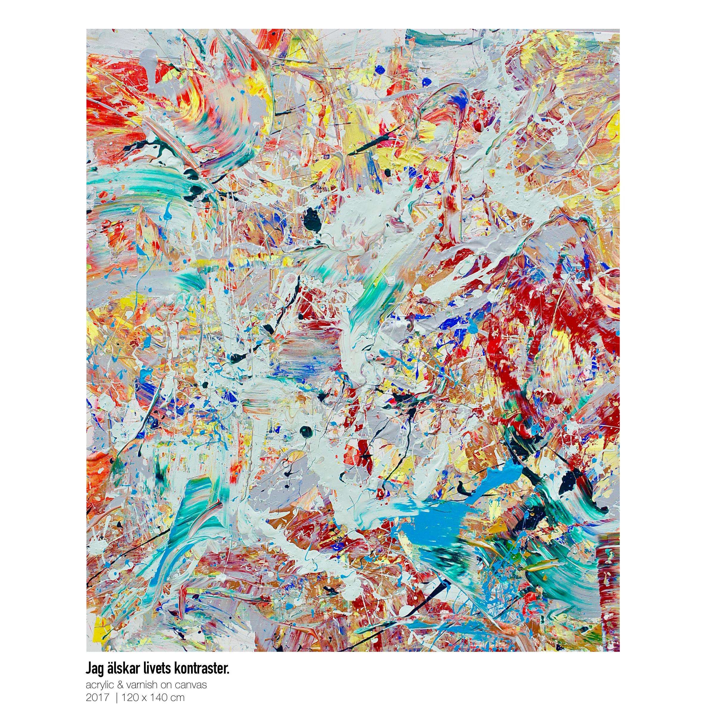Theresa Kallrath-Canvas-Jag älskar livets kontraster