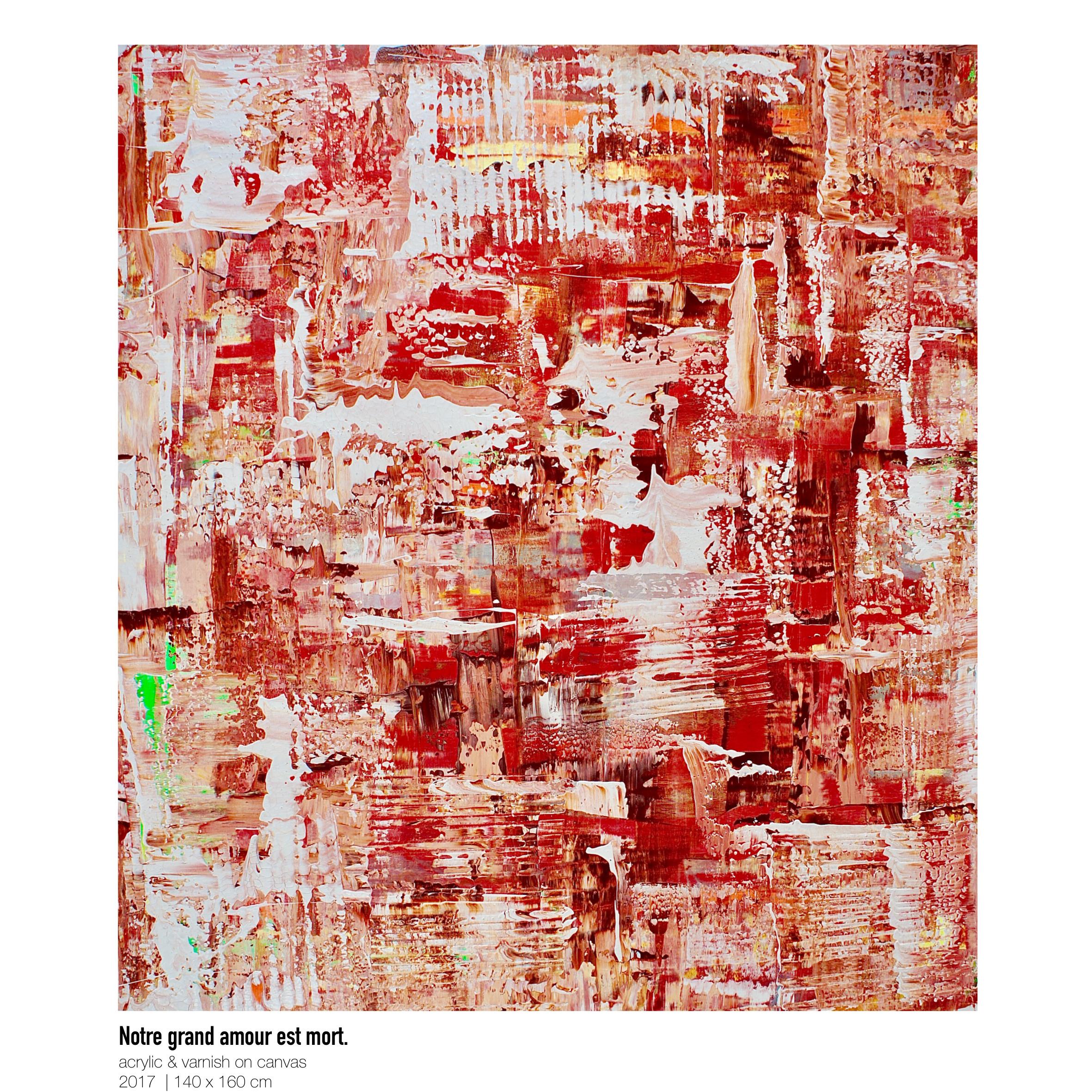 Theresa Kallrath-Canvas-Notre grand amour est mort