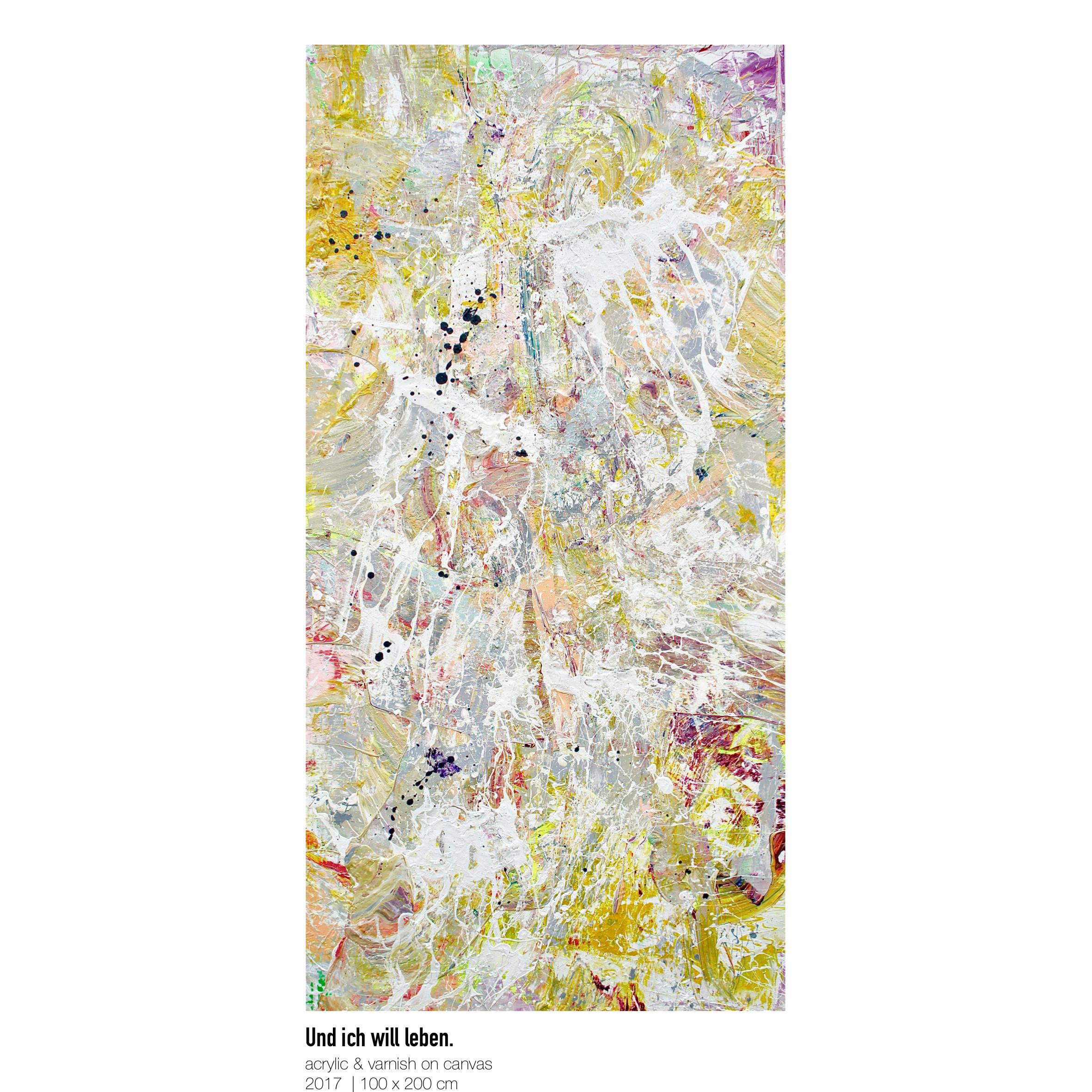 Theresa Kallrath-Canvas-Und ich will leben