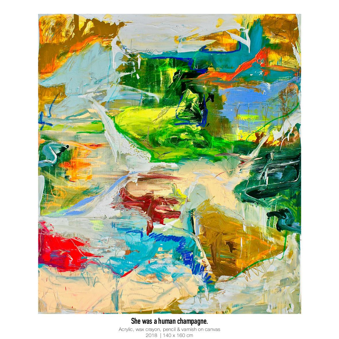Theresa Kallrath Kallart_She was a human champagne_Artist_Art_Contemporary Art